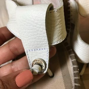 Burberry Shoes - Burberry White Leather Wedges Sz 6